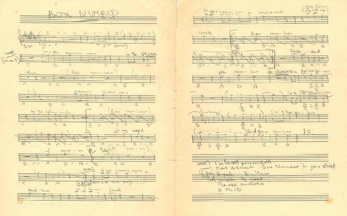Handwritten Music Handwritten Sheet Music